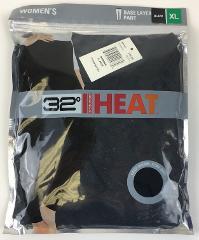 NEW Women's 32 Degrees Heat Base Layer Pant BLACK XL TLF7L287C...