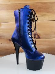 Adore 1020 SHG Purple Blue Patent Lace Up 7