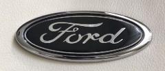BLACK 150mm Ford Oval Bonnet Boot Badge Emblem for Transit Mon...