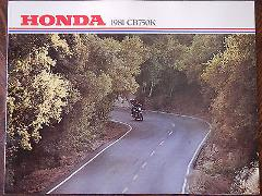 81 HONDA CB750K NOS OEM DEALER'S SALES SHEET LITERATURE BROCHURE