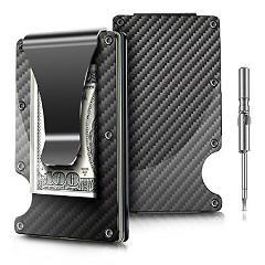 Front Pocket Wallet Minimalist Ridge Money Clip Carbon Fibre S...
