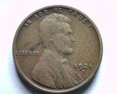 1924-S LINCOLN CENT PENNY VERY FINE / EXTRA FINE VF/XF NICE OR...