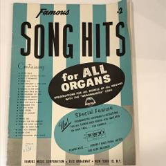 Famous Song Hits for All Organs #2 1962 Silver Bells Mona Lisa...