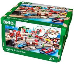 Brio Deluxe Railway Set Wooden Toy Train Set for Kids - Made w...