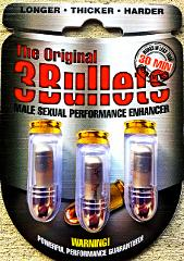 3 x The Original 3 BULLETS Male Sexual Enhancer Silver Pills w...