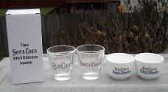 4 New Rum Chata Shot Glasses 2 Cereal Shooters and 2 Shot a Ch...