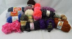Lot of 20+ Vintage + New Yarn Skeins Knitting Variety of Color...