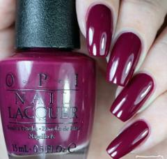 OPI Alice ~WHAT'S THE HATTER WITH YOU?~ Burgundy Purple Nail P...