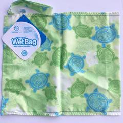 Bumkins Bags Reusable Waterproof Wet Bag Zipper Turtle Print G...