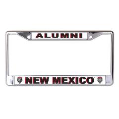 University of New Mexico Alumni Chrome License Plate Frame