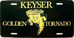 Keyser West Virginia Golden Tornado License Plate