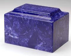 Oversize Classic Marble Cobalt Adult Cremation Urn, 325 Cubic ...