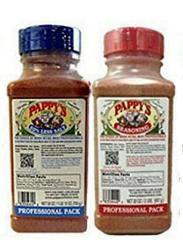 2 PAPPYS Choice Seasoning BLUE RED CAP Spice BBQ Rub Variety ...