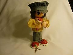 Paper Mache Fisherman Figure Vintage Greek Fly Lure 13 Inches