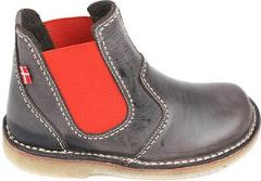 Duckfeet Roskilde Chelsea Boot in Slate / Red Leather - NEW