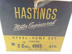 Vintage Hastings Steel-Vent Chrome Ring Set 4063 With Box 3-1/...