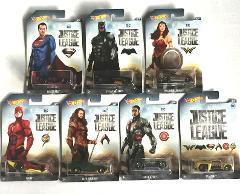Hot Wheels 2017 DC Comics Justice League Complete Set of 7 Wal...