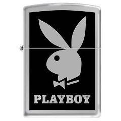 ZIPPO Playboy BLACK 852600 Free Shipping NEW Lighter Bunny Br...