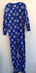 Skull Dia De Las Muertos Girl's Footed Fleece Pajamas Medium M...