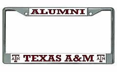 Texas A&M Aggies Alumni Chrome License Plate Frame