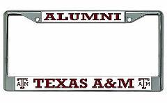 Texas A&M Aggies Alumni Chrome License Plate Frame
