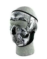 Glow In Dark SKULL Neoprene Face Mask Ski Cold Protect Snowboa...