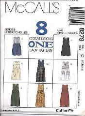 8279 UNCUT Vintage McCalls SEWING Pattern Misses Loose Fitting...