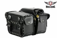 Waterproof PVC Motorcycle Saddlebag With Quick Release & Studs...