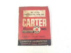 Vintage Carter Carburetor Gasket Assortment No. 313A Chrysler ...