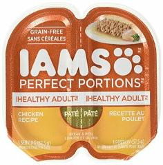 IAMS Healthy Adult Grain Free Wet Cat Food Chicken Pate 2.6 oz...