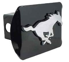 Southern Methodist (Mustang) Black Hitch Cover