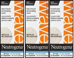 3 x NEUTROGENA WAVE® Blackhead Eliminating 30 Refill Pads