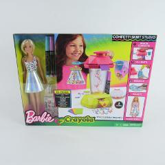 Barbie Crayola Confetti Frenzi Skirt Studio 30 Piece Set Doll ...