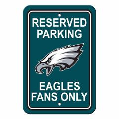 Philadelphia Eagles Plastic Parking Sign - Reserved Parking - ...