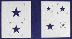 Single Star Stencils - 2 Piece Set - 8 x 10
