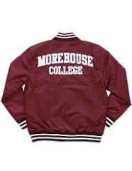 MOREHOUSE COLLEGE LETTERMAN JACKET HBCU BASEBALL JACKET MAROON...