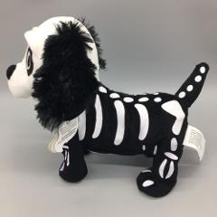 GEMMY Animated Skeleton Dog Black White Dances Halloween Thril...