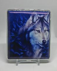 Eclipse Wolf Silver Framed Double Sided PU Leather 100s Cigare...