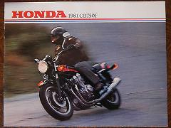 81 HONDA CB750F NOS OEM DEALER'S SALES SHEET LITERATURE BROCHURE