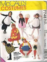 7746 UNCUT McCalls SEWING Pattern Bee Pumpkin Bunny Mouse Hall...