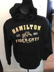 Hoodie ADULT S-M HAMILTON TIGER CATS CFL football HTC AUTHENTI...
