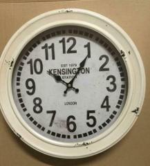 CLOCK ANTIQUE STYLE VINTAGE METAL HOME DECOR KENSINGTON LONDON...