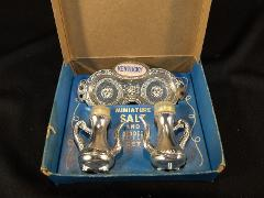 Miniature Kentucky Salt And Pepper Set With Tray In Original Box