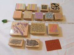 Lot of Misc Wood Mount Stamp Set includes 15 rubber stamps Scr...