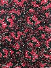 Fabric Remnant Red Black Grey Quilting Sewing Crafts 42