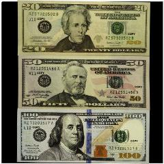 Copy Prop Replica Money Mixed 50 Pcs X 100$+ 50$+ 20$ Assorte...
