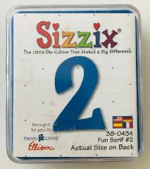 Sizzix Die-cut Fun Serif #2 38-0434 Cartridge Provo Craft