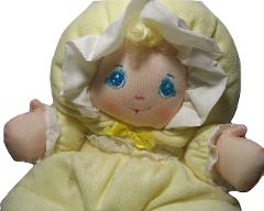 Vintage 1991 Well Made Toys Little Darlin's Yellow Plush Terry...