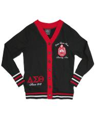 Delta Sigma Theta Sorority 1913 RED BLACK LIGHT CARDIGAN SWEAT...