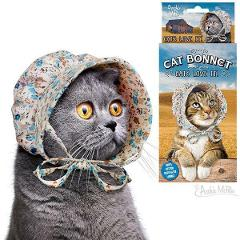 Prairie Style Cat Bonnet - A Hat For Your Cat Novelty Head Cover